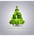 Christmastree with speech bubbles background vector image