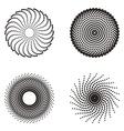 Circle halftone design vector image