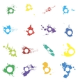 Colored blots with space for inscriptions vector image