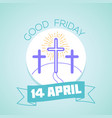 calendar good friday vector image