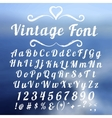 Vintage font lettering on abstract blurry vector image