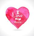 Watercolor pink heart vector image