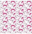seamless background with Hearts and swirls vector image