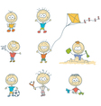 Children play on the playground vector image