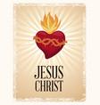 sacred heart blessed spirit vector image