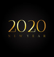 2020 symbol with text happy new year vector image vector image