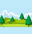 a nature hill landscape vector image vector image