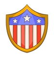 American shield icon cartoon style vector image vector image