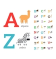 Animals alphabet icons vector image vector image
