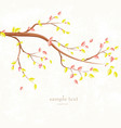 autumn invitation card with branch of tree for vector image