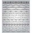 Black Hand Drawn Doodle Borders and Frames vector image vector image