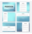 Blue set of presentation templates with vector image
