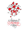 box with hearts happy valentines day vector image vector image