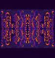 bright psychedelic trippy foliage mandala vector image vector image