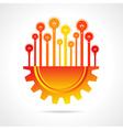 Bulbs on half gear stock vector image vector image