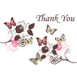 butterflies vintage thank you vector image vector image