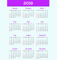 calendar ddesign 2018 template vector image