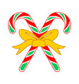 christmas candy cane cross gift vector image