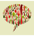 Christmas colors cutlery icon set in bubble shape vector image