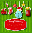 christmas holiday postcard vector image vector image