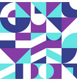 colorful background in bauhaus style geometric vector image vector image