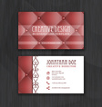 Creative business card template with leather vector image vector image