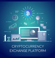 crypto-currency digital marketing business and vector image vector image