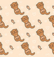 cute otter seamless pattern background vector image vector image