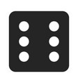 dice number six icon vector image