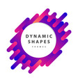 dynamic wavy form with irregular parallel rounded vector image vector image