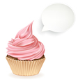 Empty Speech Bubble Cupcake vector image vector image