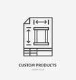 engineering technical plan flat line icon custom vector image