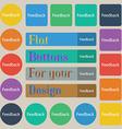 Feedback sign icon Set of twenty colored flat vector image