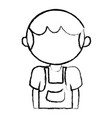 figure cute boy with clothes and hairstyle vector image vector image
