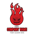 fire mascot vector image vector image