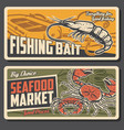 fishing bait store seafood market banners