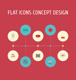 flat icons sign payment cash and other vector image vector image