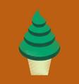 flat shading style icon ice cream cone vector image