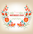 Floral background mothers day greeting card with vector image vector image