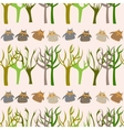Forest seamless pattern with cute owls vector image vector image