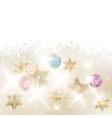Golden Lights and Stars Christmas Background vector image vector image