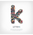 group people shape letter K vector image