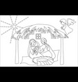 hand drawn coloring pages for kids and adult vector image vector image