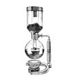 hand drawn siphon coffee maker icon vector image vector image