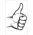 Hand gesture - Good vector image vector image