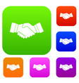 handshake set collection vector image vector image