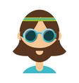 hippie man vector image