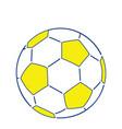 icon of football ball vector image