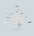 Increase knowledge efficiency of the brain vector image vector image