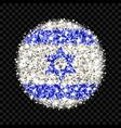 israel flag sparkling badge vector image